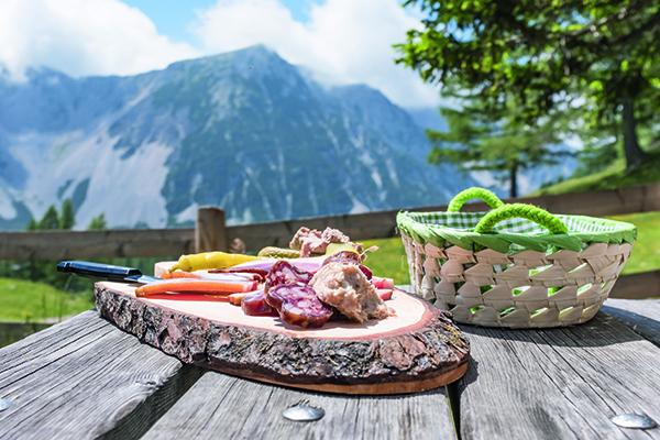 Mountain food Austria